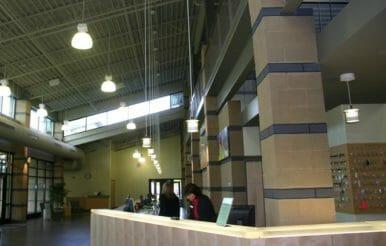 Interior of Kraft Family YMCA construction project.