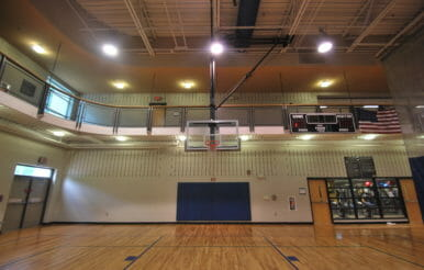 Kerr Family YMCA basketball court.