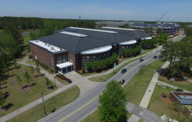 UNCW university recreation center construction.