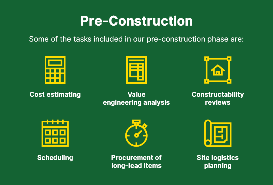 typical pre-construction project timeline